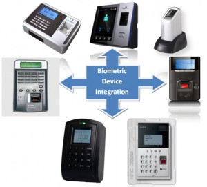 biometric integration 300x271 Web based time attendance software   SmartSuite
