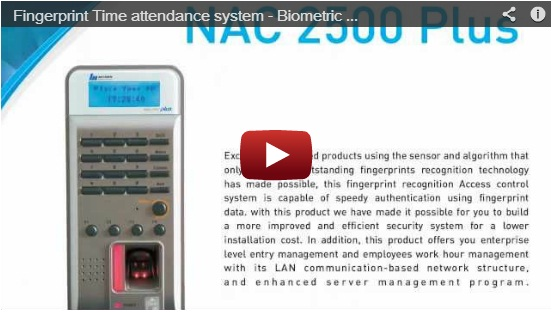 NAC2500 Plus – Fingerprint Time attendance system – Biometric time attendance Solution